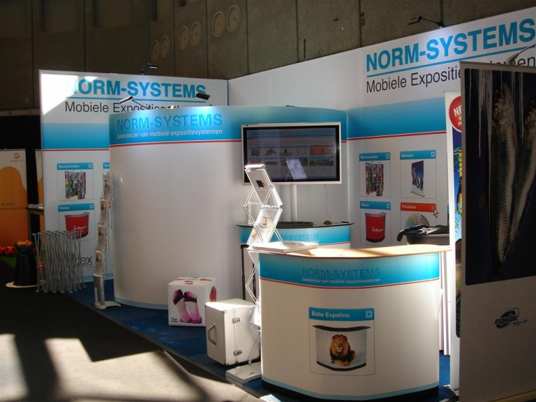 Stand Norm-Systems met Fabric frame